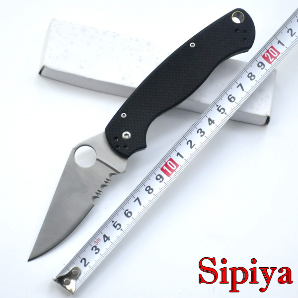 Top selling CPM S30V blade 2 colors 58HRC G10 handle Black colors camping survival folding font