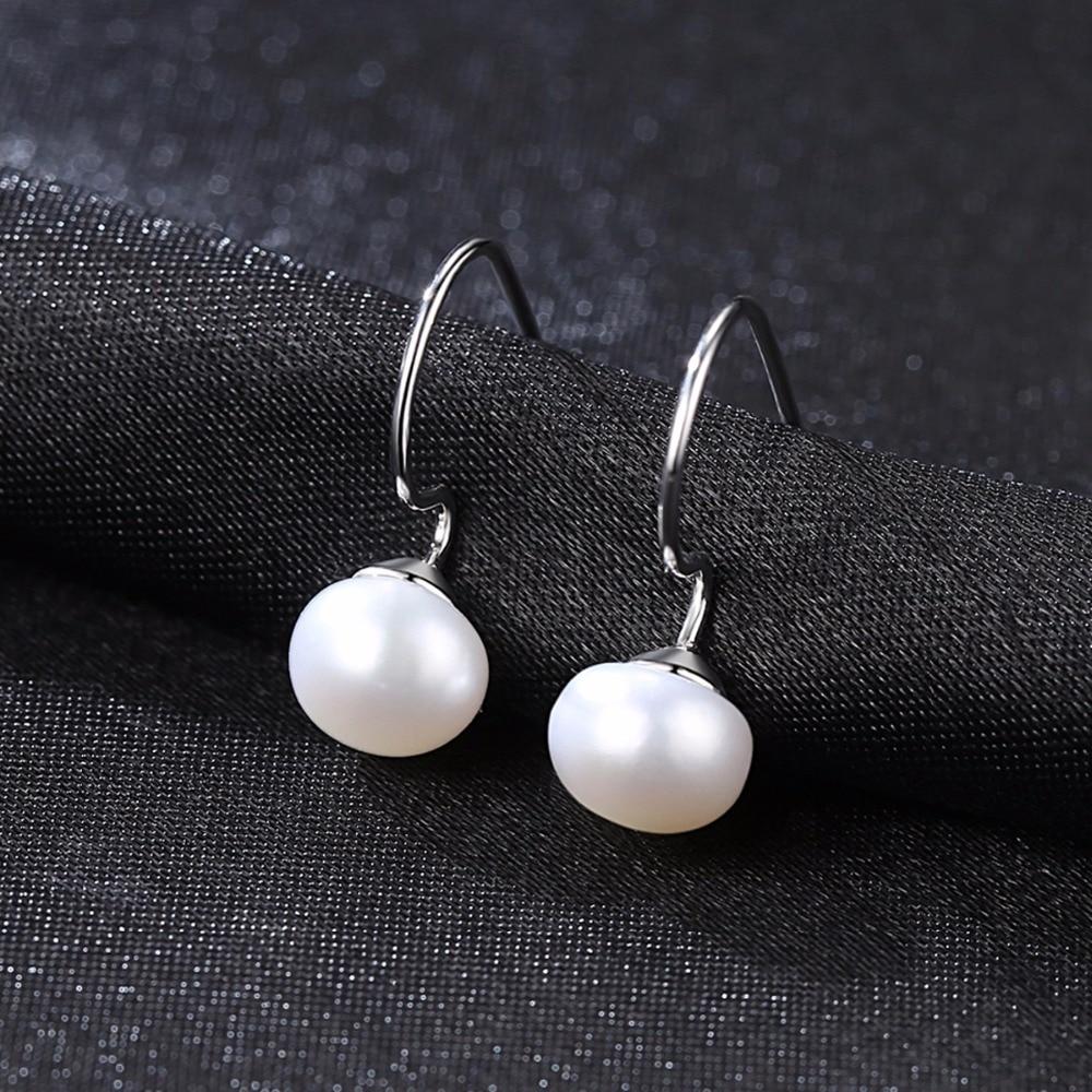 "925 Sterling Silver Classic FRESH WATER PEARL PIERCED Earrings 1.4/"" BRAND NEW"