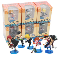 One Piece Luffy Sanji Zoro Buggy Shanks Mihawk PVC Action Figure Collectible Model Toy 6 7cm