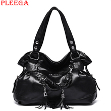 PLEEGA New 2017 Fashion Women Big Handbag Designer Tassel High quality Leather Shoulder Bag Leisure Tote Female High capacity Ho