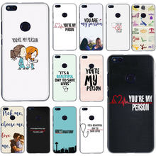 Greys Anatomy You're My Person Hard Phone Case for Huawei Honor Play 6 7 8 A C Pro 7C 5.99in 7 9 10 X Lite(China)