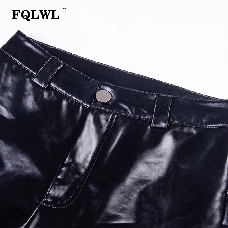 FQLWL Punk Bodycon Faux Pu Leather Pants Women Push Up Black High Waist Pants Female Autumn Winter Trousers Women Sexy Pants 19