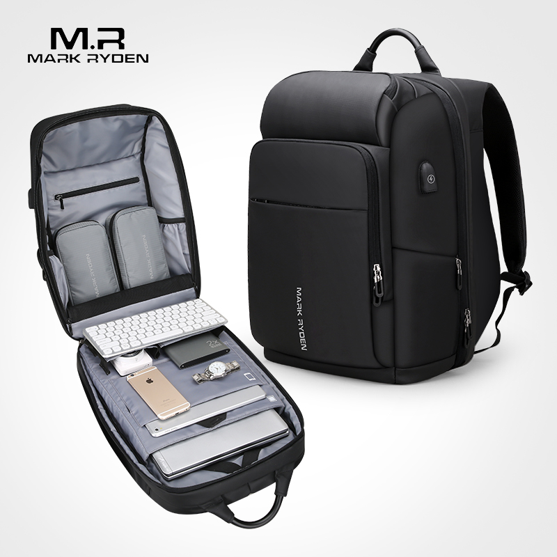 Mark Ryden Männer der Multifunktionale Rucksack USB Lade 17 zoll Laptop Tasche Große Kapazität Wasserdichte Reisetaschen Für Männer Business