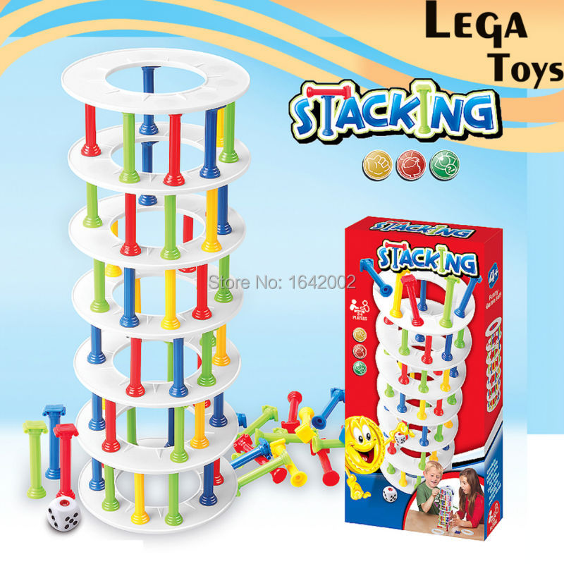 Crash Tower Game Wobbly Tower Collapse Crazy Column Game ,Enjoy The Thrill,Great Challenge Block Game for Family Fun! funny fishing game family child interactive fun desktop toy