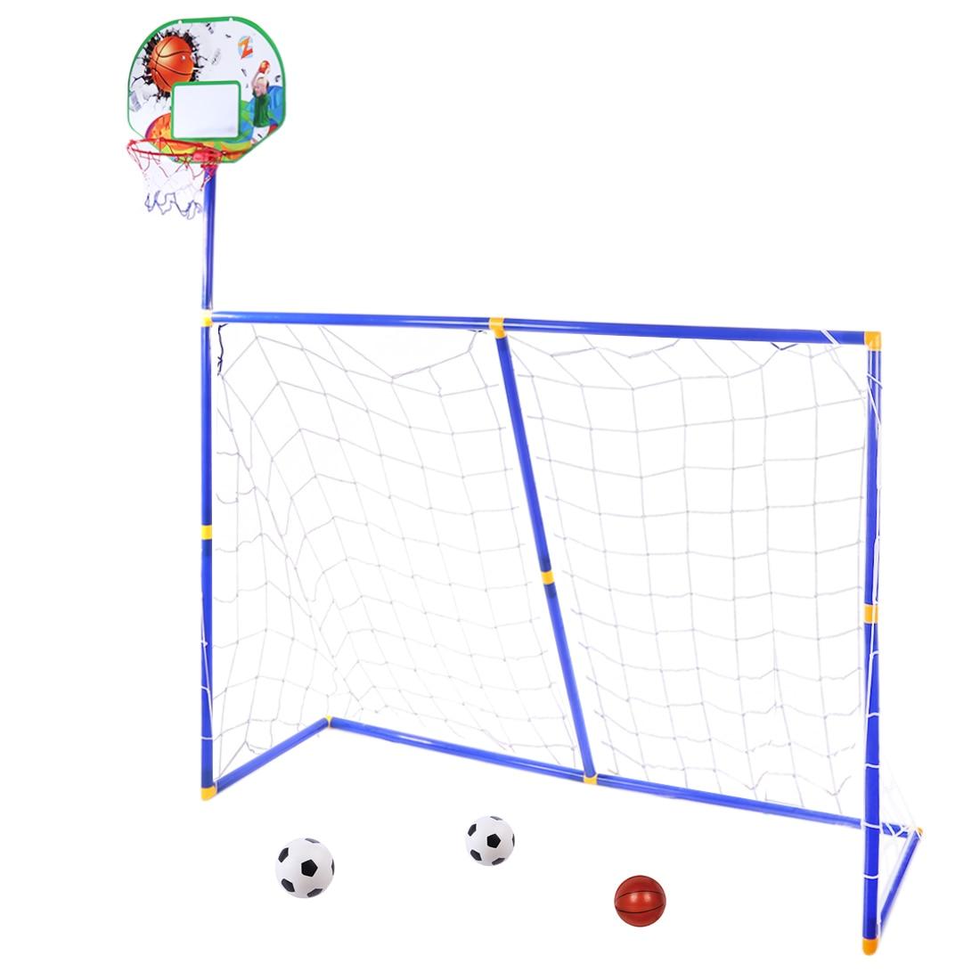 Surwish 3 in 1 Per Bambini Attrezzature Sportive di Calcio di Pallacanestro di Espositori e Alzate per I Bambini All'aperto Giocattolo-ZG270-16
