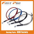 Motorcycle 500mm-2000mm Braided Steel Hydraulic Reinforced Brake Clutch Radiator Oil Cooler Hose Line Pipe Tube 28 Degree Banjo