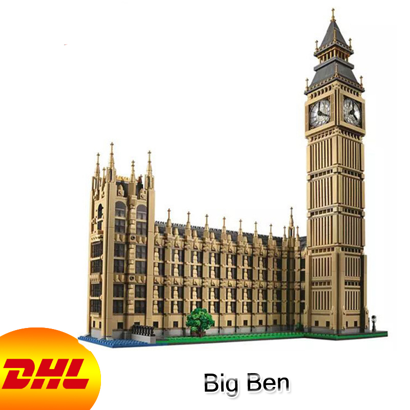 HF City Street Figures 4163Pcs Big Ben Model Building Kits Blocks Bricks Educational Toy For Children Gift Compatible With 10253 10646 160pcs city figures fishing boat model building kits blocks diy bricks toys for children gift compatible 60147