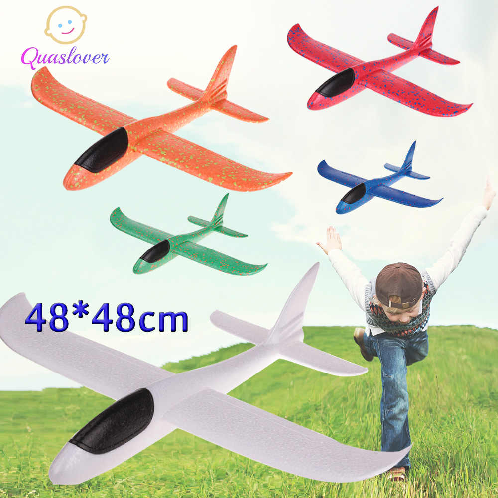 DIY Kids Toys Foam Plane Hand Throw Airplane Flying Glider Plane Helicopters Flying Planes Model Plane Toy For Kids Outdoor Game
