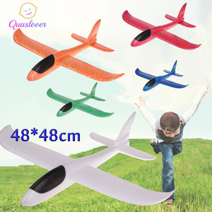 DIY Kids Toys Foam Plane Hand Throw Airplane Flying Glider Plane Helicopters Flying Planes Model Plane Toy For Kids Outdoor Game(China)