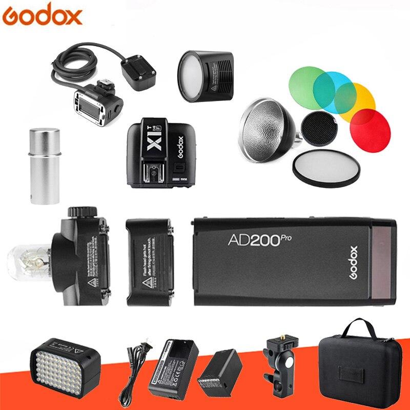 Godox AD200pro Kit 200Ws 2.4G TTL poche Flash sans fil Monolight 2900 mAh Lithimu batterie et ampoule nue/Speedlite pour Camer-in Clignote from Electronique    1