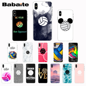 Babaite I love Volleyball DIY Phone Case cover Shell for iPhone 7 8 plus 6plus 6sPlus X Xs Xr XsMax 5 5s SE 5c11 11pro 11promax(China)