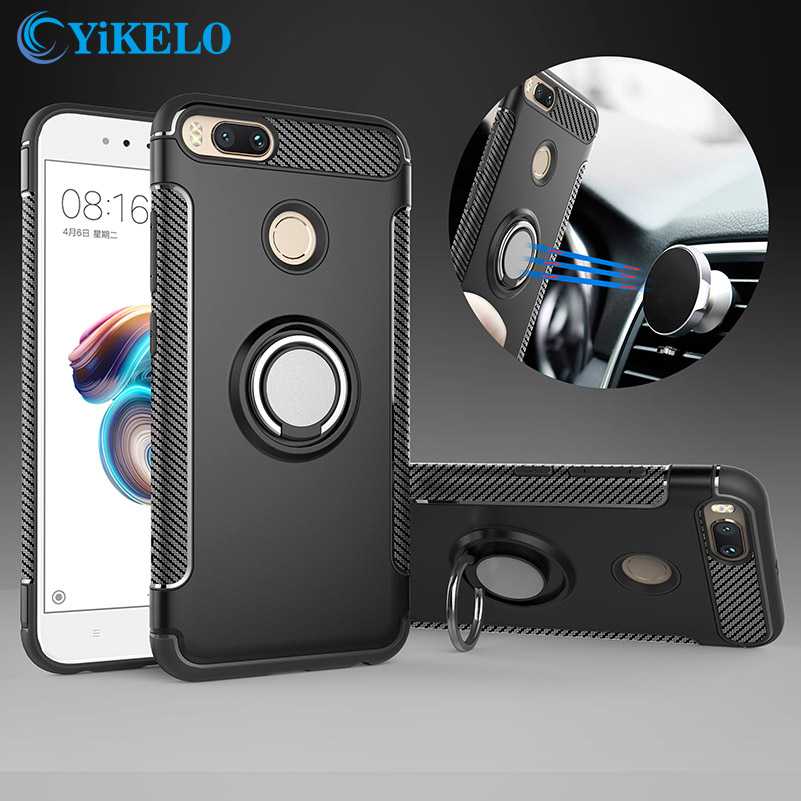 YiKELO Case For Xiaomi mi a1 5X Mi6 Fundas soft silicone Hard PC Car Magnetic Cover For Redmi Note 4 4X 4A 3S Pro Prime Case