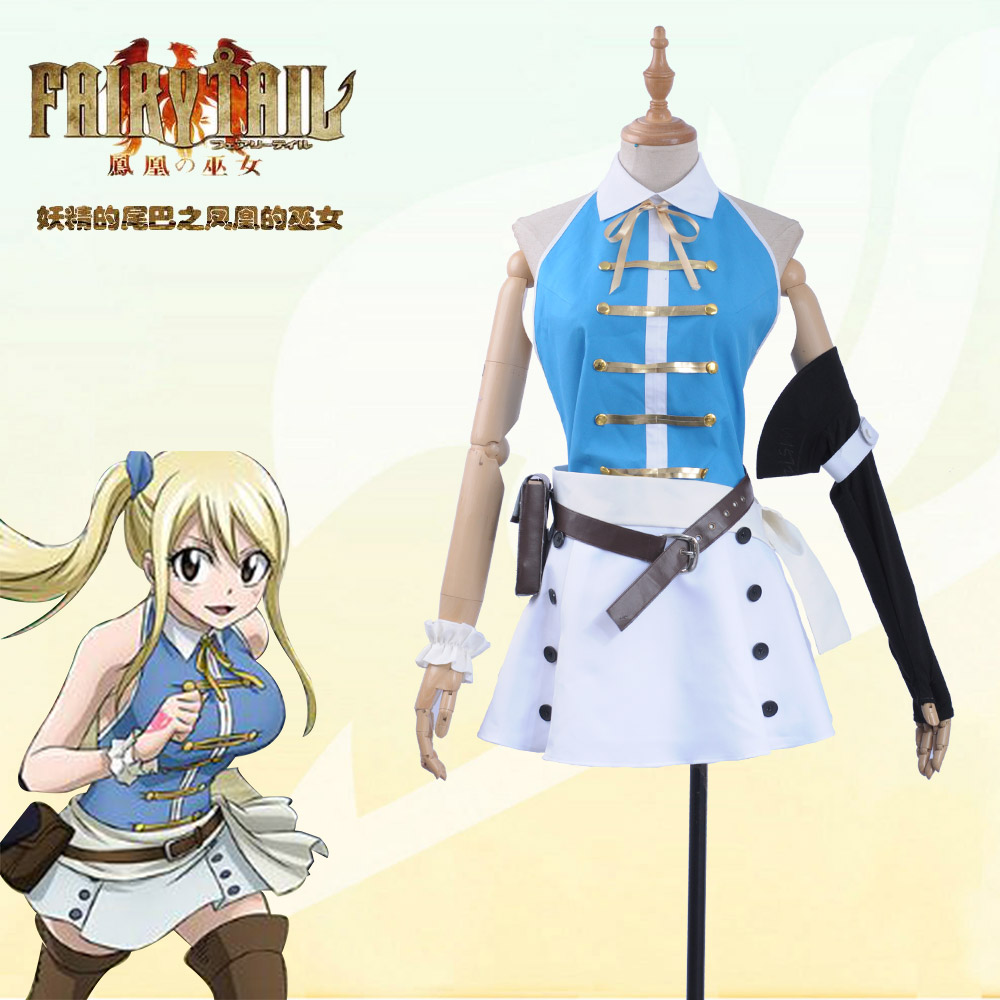 Fairy Tail Lucy Heartfilia uniform Dress cosplay costume Outfit