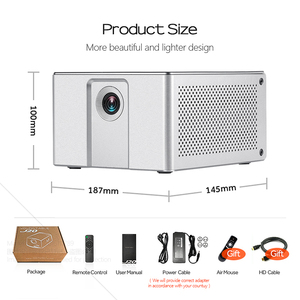 Image 5 - جهاز عرض عالي الدقة من AUN طراز J20 ، 1920*1080P ، يعمل بنظام الأندرويد والواي فاي ، وبطارية 10000mAH ، جهاز عرض DLP محمول. دعم 4K ثلاثية الأبعاد متعاطي المخدرات