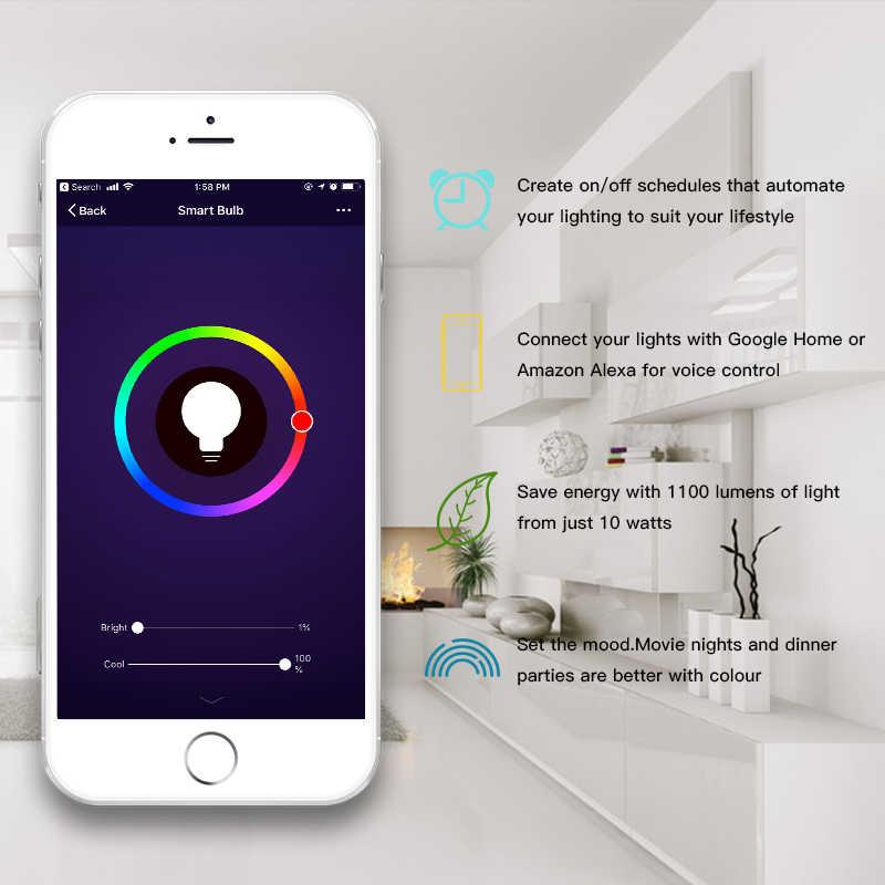 Rgbw Ampoule Dimmable Avec Google Ac85 Travail Frankever 265v Home Alexa Gu5 3 Wifi Télécommande W Intelligente Mini Lampe 5 Led 8yNnOvm0w