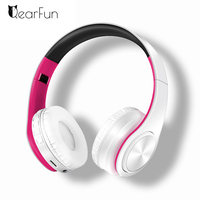 New Colorful Bluetooth Headset Stereo Bass Audio Mp3 Wireless Headphones Earphone Support SD Card With Mic