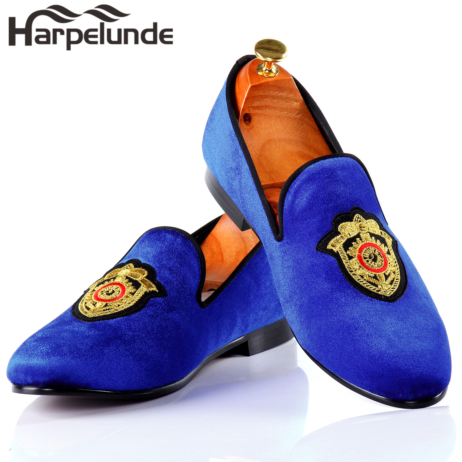 effc05fa1c04 Harpelunde Men Dress Wedding Shoes Handmade Black Velvet Flat Loafers Size  6 14-in Formal Shoes from Shoes on Aliexpress.com