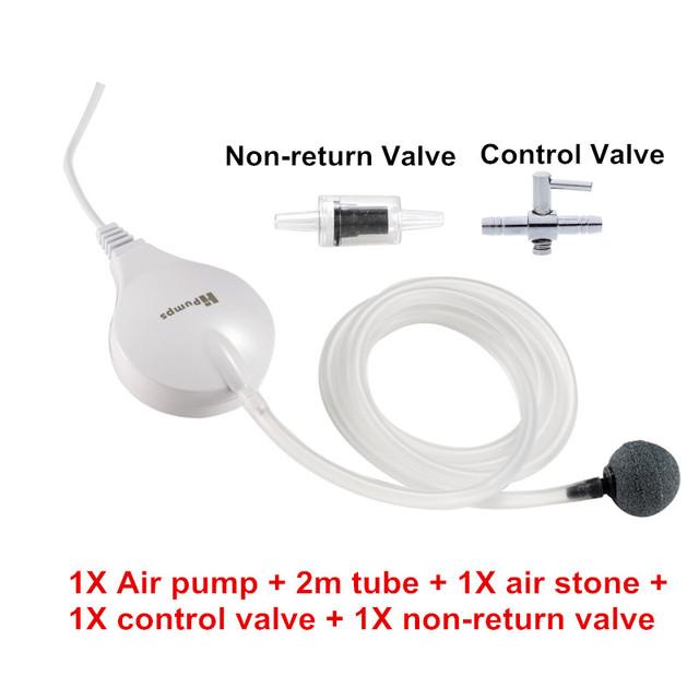 220V Mini Aquarium Air Pump Oxygen Air Pump Compressor For Fish Tank Aquarium Quiet Aerator Used With Air Bubble Stone Air Valve