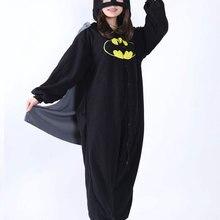 Кигуруми взрослых мультфильм Новый Бэтмен пижама-комбинезон аниме Костюмы  для косплея унисекс Зима животных пижамы c7b2615b48905