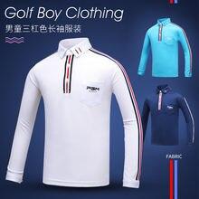 Pgm детская одежда для гольфа осень и зима дышащая футболка