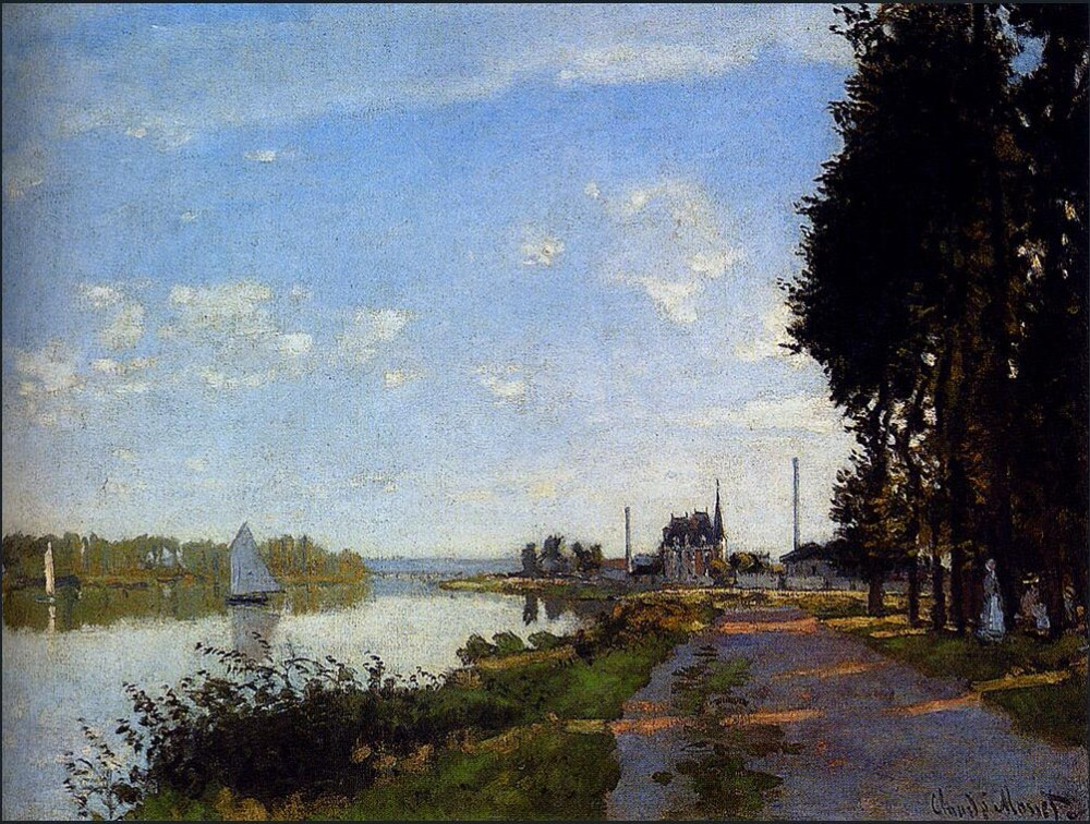 High quality Oil painting Canvas Reproductions Argenteuil (1872)150 By Claude Monet hand paintedHigh quality Oil painting Canvas Reproductions Argenteuil (1872)150 By Claude Monet hand painted