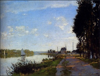 High quality Oil painting Canvas Reproductions Argenteuil (1872)150 By Claude Monet hand painted