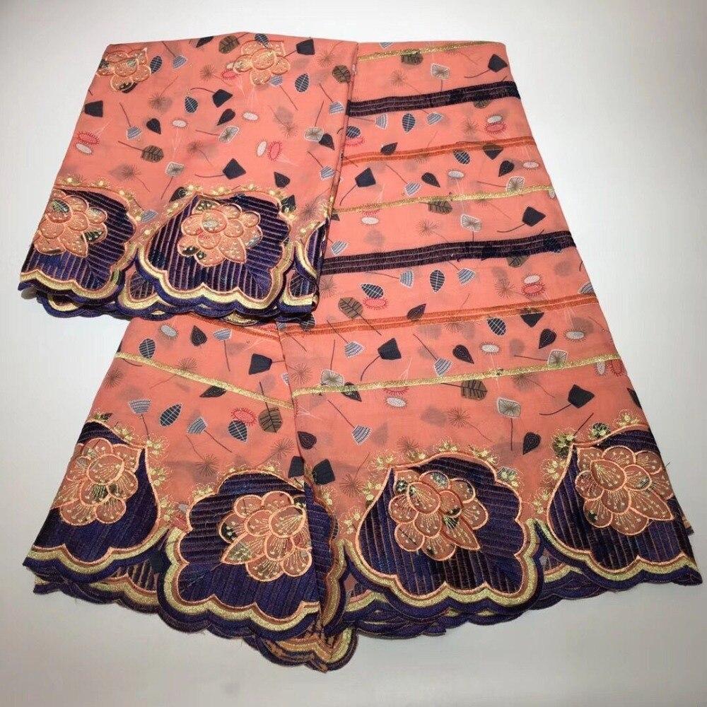 Africain tissu en dentelle 2018 dentelle de qualité supérieure coton tissu tissu nigérian mariage brodé tissu pour robes 7 yard/lotLA 23-in Dentelle from Maison & Animalerie    1