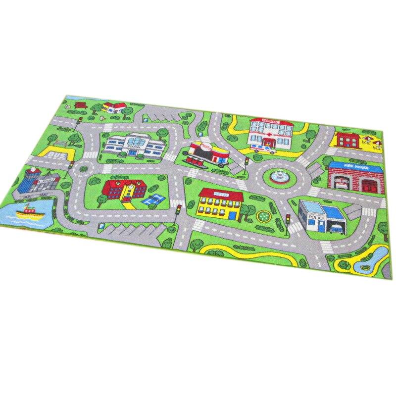 Tapis enfant avec tapis de jeu City Street Map tapis d'apprentissage enfant tapis enfant garçon fille chambre d'enfant
