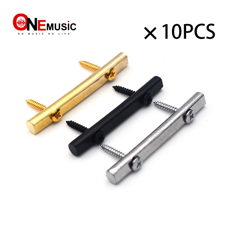 10pcs 45mm brass guitar string retainers bars tension bar for tremolo systems electric guitar. Black Bedroom Furniture Sets. Home Design Ideas