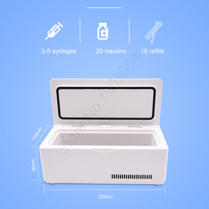 Image 3 - Portable Insulin Refrigerated Box Smart Car Home Constant Temperature Mini Refrigeration Medicine Small Freezer Insulin Cup-in Pill Cases & Splitters from Beauty & Health
