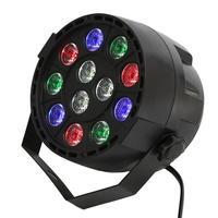 12W RGBW Voice Activated LED Stage Lights Led Flat Projector Par Lamp With DMX Master Slave