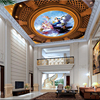 Beibehang Custom Large Wallpapers 3d European Angel Oil Painting Flying High Grade 3D Zenith Wallpaper Ceiling