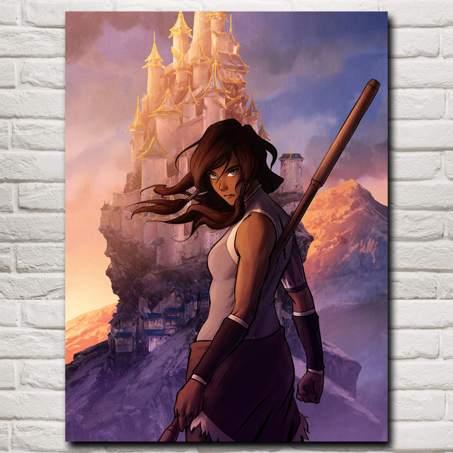 The Legend of Korra Game Art Silk Fabric Poster Prints Home Wall Decor Printing 12×16 18×24 24×32 Inches Free Shipping