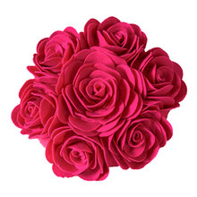 3D Rose Cushion Filler Included Decoration Decorative Soft Gift for Car Office TB Sale(China)