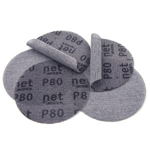 Image 5 - 10PCS 5 Inch 125mm Mesh Dust free Anti blocking Hook&Loop Sanding Discs Round Abrasive Sandpaper 80#180#240# Car Decorate Paper