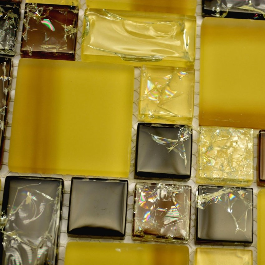 yellow mixed brown color crakle crystal square mosaic for kitchen backsplash  tile bathroom shower tile( - Compare Prices On Yellow Tile Backsplash- Online Shopping/Buy Low