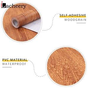 Image 5 - 3M/5M DIY Rustic Wood Wallpaper Roll Furniture Cabinets Wardrobe Door Desktop Self Adhesive Contact Paper Vinyl Waterproof Film
