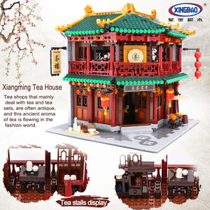 Image 4 - XINGBAO Zhonghua Street Chinatown Building Series The Toon Tea House Pub Set Building Blocks Bricks With Figure Kids Toys Gifts