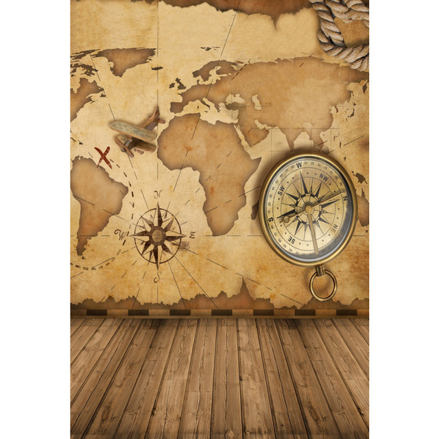 Laeacco world map compass wooden floor scene baby newborn laeacco world map compass wooden floor scene baby newborn photography backgrounds custom photographic backdrops for photo gumiabroncs Images