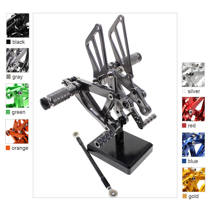 For Kawasaki Ninja ZX6R ZX636 ZX 6R ZX 636 2003 - 2004 CNC Aluminum Motorcycle Foot Pegs Rest Footpegs Pedals Rearset Footrest for kawasaki ninja zx6r zx 6r zx 6r zx636 2005 2006 cnc motorcycle frame sliders screw crash pad cover falling protector guard