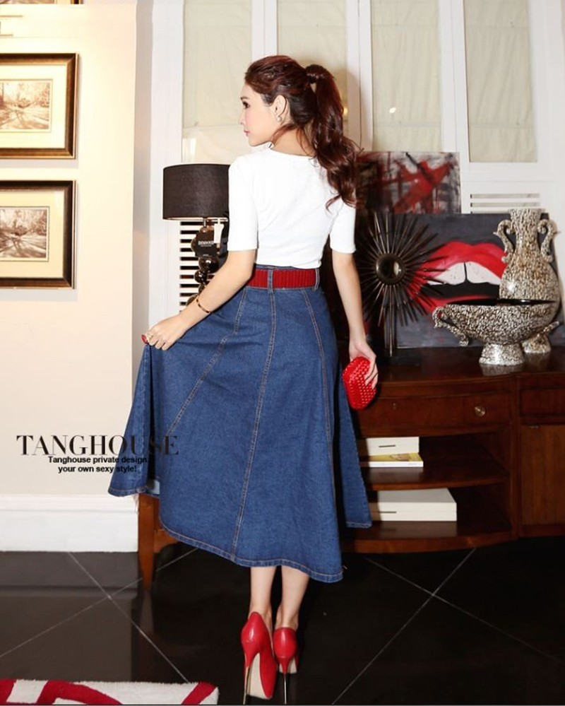 Popular A Line Long Maxi Denim Skirt-Buy Cheap A Line Long Maxi ...