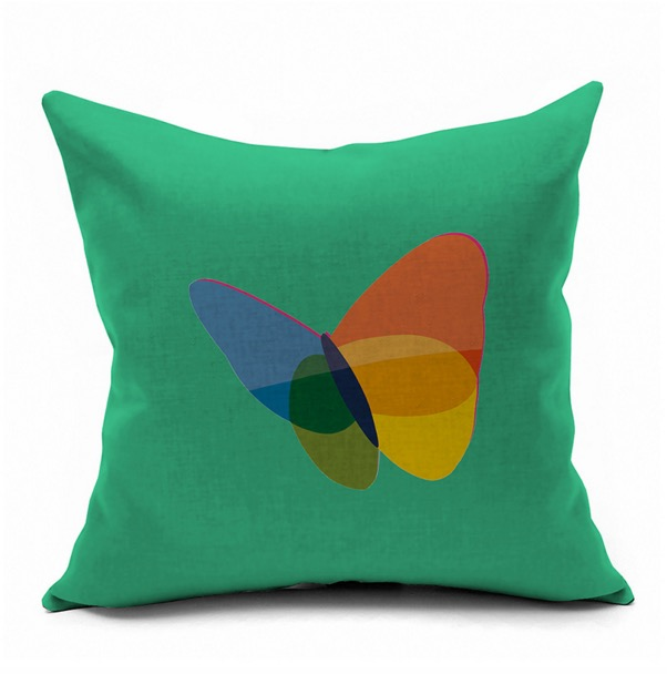Butterfly Colorful Abstract MSN HOTMAIL Logo Internet Emoji Pillow Massager  Decorative Pillows Cover Euro Home Decor