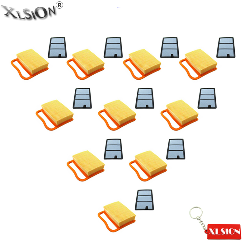 XLSION 10x Air Filter 10x Pre Filter For OEM 4238 141 0300 TS410 TS420 TS480i TS500i