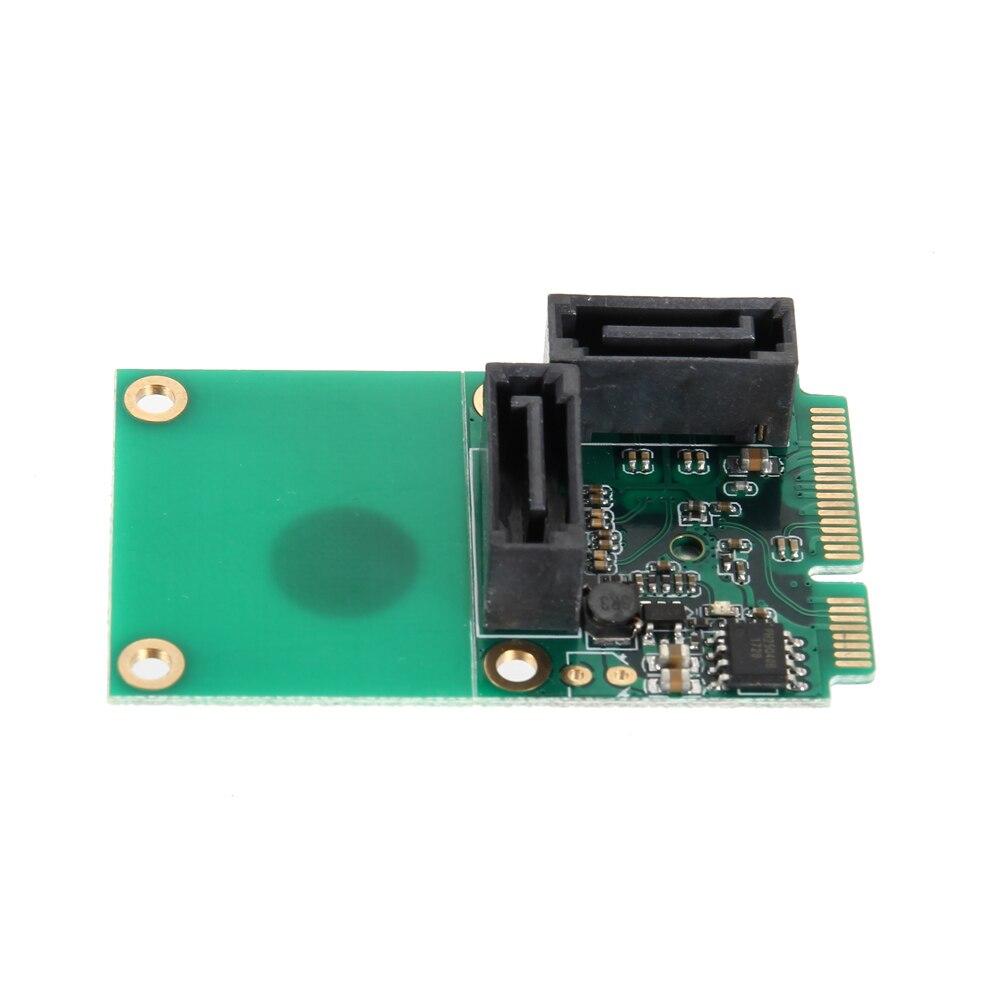 все цены на 1 Set SATA 6Gbps 2 Ports Mini PCI Express Controller Expansion Card PCI-E to SATA3.0 + 2xSATA3 With Cable EM88 онлайн