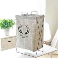 Bathroom Waterproof Laundry Storage Rack Iron Rack Laundry Bucket Trash Can Home Storage Finishing Basket Home Decoration Gifts