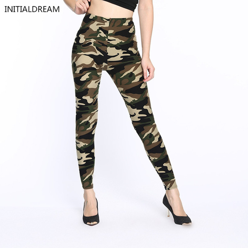 Vinter leggings fitness Camouflage kvinnor print leggings Army Byxor Stretch Leggings kvinnliga leggings tryckta