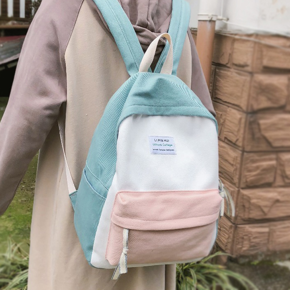 Image 3 - JOYPESSIE Fashion Korean Simple Cotton Backpack for Teenagers Travel Bagpack Male/Female School Backpack Stachels Rucksack-in Backpacks from Luggage & Bags