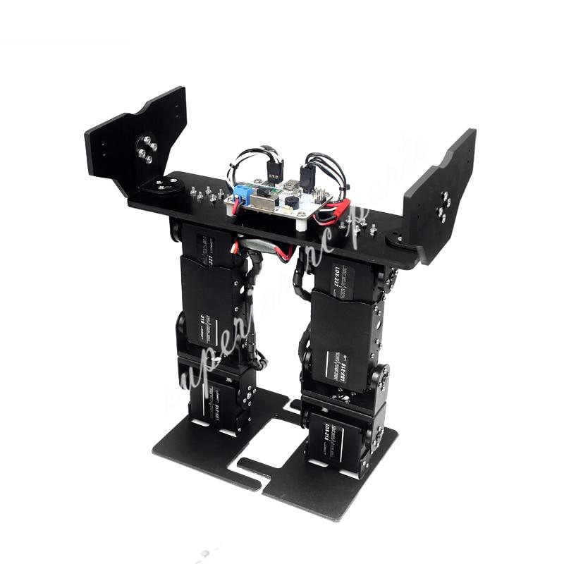 LOBOT 6 DOF Biped Walking Humanoiden Roboter Servo Halterung Mechanische Arm Entry level Gaming Pädagogisches LS 6B DIY-in Teile & Zubehör aus Spielzeug und Hobbys bei  Gruppe 2