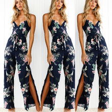 MAYFULL split sashes embroidery floral jumpsuits full length strap jumpsuit women backless casual leisure pant summer jumpsuit mesh panel floral embroidered split jumpsuit