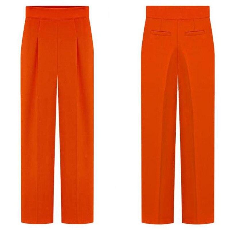 New autumn winter 2016 in Europe and american high waist wide-legged pants women  Ms street trousers slacks OL pants G0405
